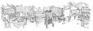 Menuiserie L'Art du bois dessin intérieur